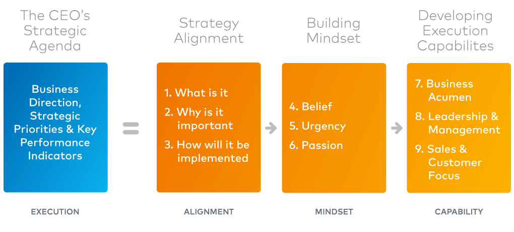 Nine Component of Effective Strategy Execution Chart