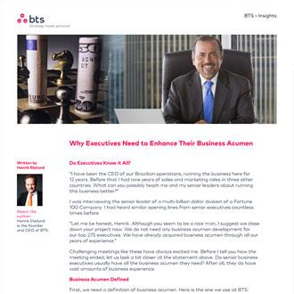 Executive Development Article